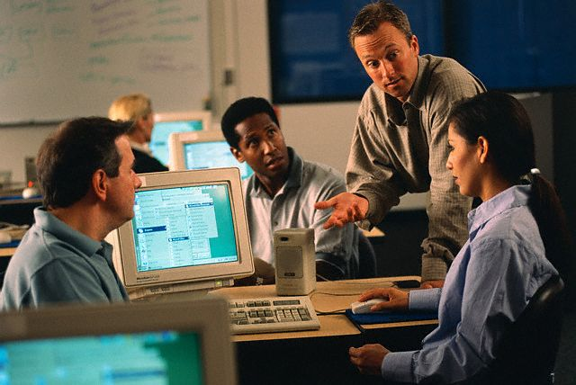 Adults Receiving Computer Training